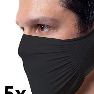 5 X Fascia Protettiva Nera Idrorepellente Batteriostatica in poliammide lavabile e riutilizzabile confezione da 5