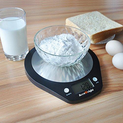 ACCUWEIGHT Bilancia Digitale da Cucina Bilance Alimenti Elettronica con Piattaforma in Acciaio Inossidabile per Pesa Cibo Alta Precisione da 1g a 5 kg