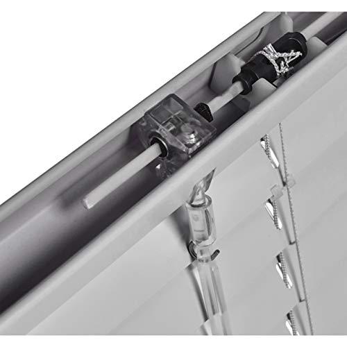 AmazonBasics  Tenda veneziana in alluminio 80 x 130 cm Argento