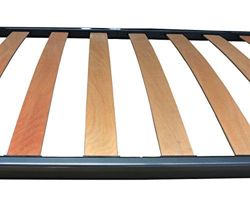 Baldiflex  Rete Singola per Materasso Ortopedica in Ferro e Doghe Listelli di Faggio 80 x 190 cm Modello Napoleone