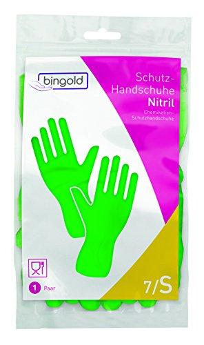bingold 504510Guanti di nitrile riutilizzabili Verde S 1