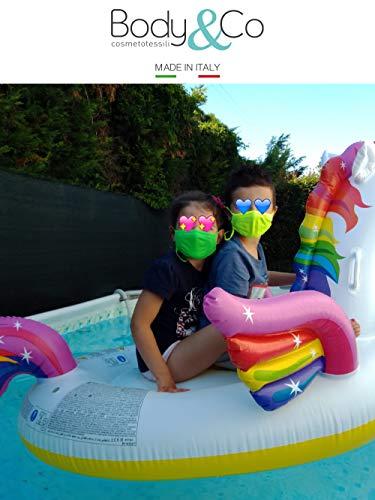 BodyCo Pack 6 pezzi Fascia protettiva baby in tessuto lavabile  Summer estiva  per bambini da 6 a 10 anni con laccetti regolatori anticaduta 4 diversi colori
