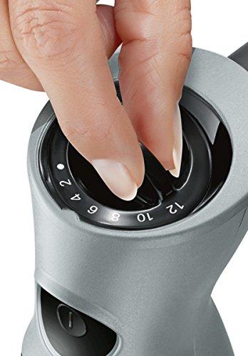 Bosch MSM67170 ErgoMixx Frullatore a Immersione 750 W 1 litro 50 Decibel Cavo a spirale estendibile Plastica NeroGrigio