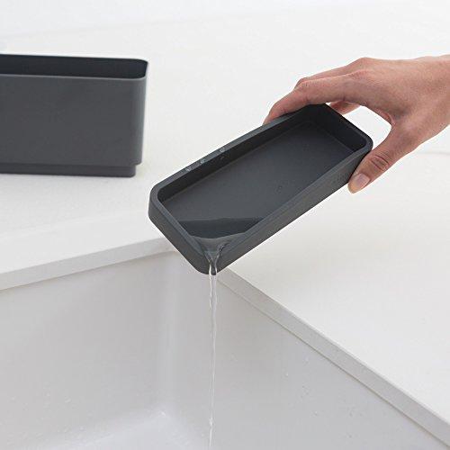 Brabantia Sink Side Organizer per Lavello Dark Grey 85 x 19 x 115 cm
