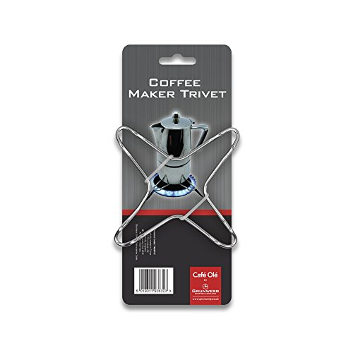 Caf Ole The Stal caffettiera Espresso Stove Top sottopentola Acciaio Inox