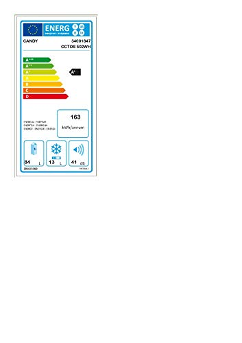 Candy Frigorifero da Tavolo CCTOS 502WH 84 Litri 40 Decibel Bianco