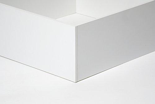 Cang Hi Box Letto Contenitore Bianco 120 x 190 cm derivato del legno