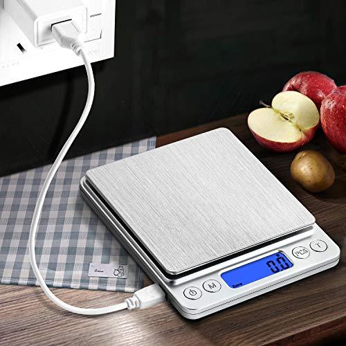 ACCUWEIGHT 255 Mini Bilancia di Precisione Digitale per Cucina ecc 1000g//0,1g