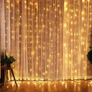 CREASHINE Tenda con Catena di Luci LED 3 x 3 m impermeabilit IP44 Stelle LED A Catena di Luce Tenda di Luci per Natale Decorazione Feste Interni