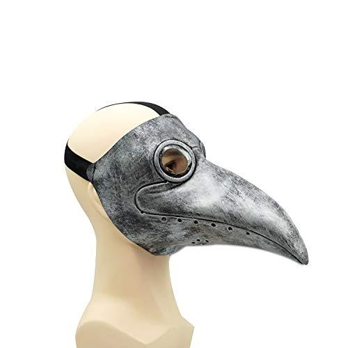 CreepyParty Maschera Medico Peste Maschera di Oggetti di Scena di Halloween Steampunk Becco Lungo Becco di Uccello Argento