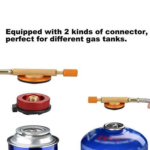 Dazspirit Fornello Portatile Campeggio Mini Gas Portatile Bruciatore 3700W per Zaino da Picnic con Accensione Piezoelettrica Antivento Custodia