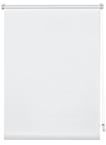 Deco Company 231022 Tenda a Rullo con Morsetto Poliestere Bianco 85 x 150 cm