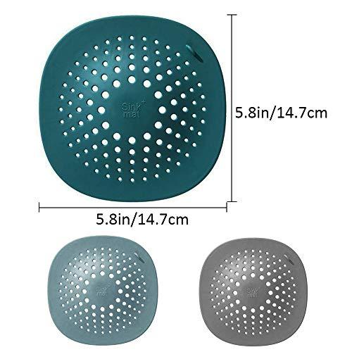 DeHub Filtro per Lavello in Silicone 5 Pezzi Coperchi di Scarico per Doccia con Ventosa Abbastanza Facile da Installare e da Pulire per La Vasca da Bagno e la Cucina Utilizzate