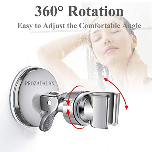 Doccia Regolabile Rimovibile Universale Staffa da Parete Soffione Supporto per doccia regolabile a 360 Ventosa Regolabile ad Angolo Supporto per Doccia Sliver1