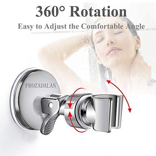 Supporto doccia,Staffa doccia a parete,Supporto Doccia Soffione,supporto doccia regolabile rimovibile,supporto doccia regolabile rotazione 360 /° per accessori bagno.(Verde)