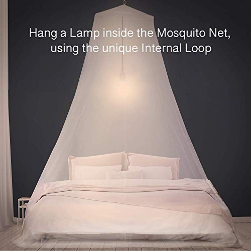 esafio Zanzariera universale a cupola  Rete per zanzariere Super Large  Installazione rapida facile  Rete per tetto a baldacchino  Zanzariera a cupola bianca universale per tutti i tipi di letto