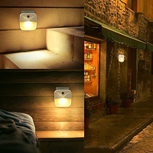 EXTSUD Luce Notturna Bambini LED Bianca Calda 6 Pezzi Lampade da Presa con Sensore Crepuscolare Luce Costante Automatica Lampada da Parete per Stanza Bambini Corridoio Cucina Bagno Camera da Letto