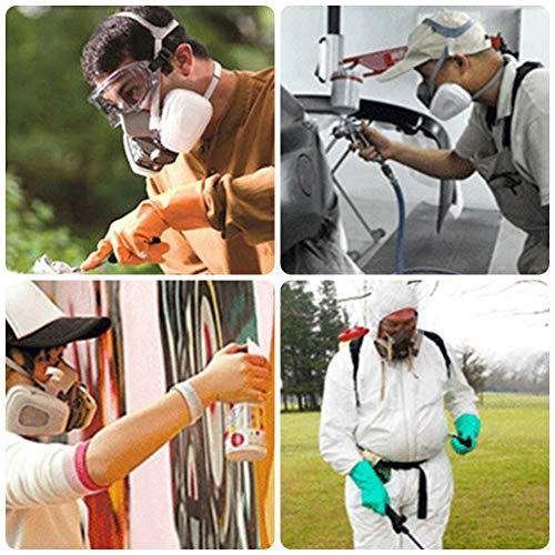 Faburo maschera respiratore riutilizzabile filtri doppio filtro antipolvere antiappannamento occhiali di sicurezza industriali