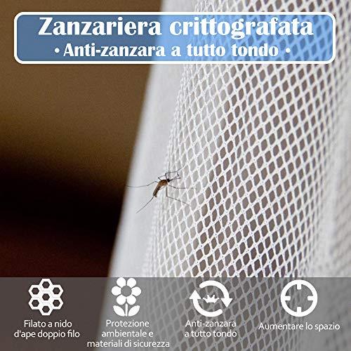 Faburo Zanzariera Quadrata 220x200x200 per interni ed esterni colore bianco