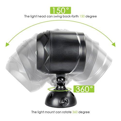Faretto Led da Esterno con Sensore di Movimento ZOTO 600lm Wireless Faro a Batteria Esterno IP65 Impermeabile Luce di Sicurezza per Giardino Garage Corridoio Terrazza Patio ecc