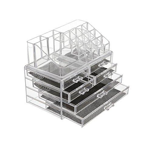 Feibrand Porta Trucchi Trasparente Acrilico Organizzatore Make Up con 6 Cassetti C2293