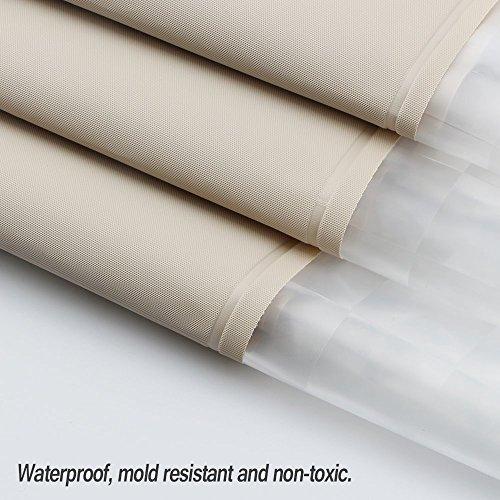 Funria Tenda da Doccia Impermeabile con Ganci Resistente alle Muffe Antibatterico Facile da Pulire Tenda per la Doccia Lavabili per Il Bagno Dimensioni 70 x 78 Pollici Beige Impiombato