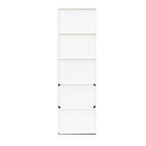 Furinno 11055 Librerie Legno WhitePink 5Tier