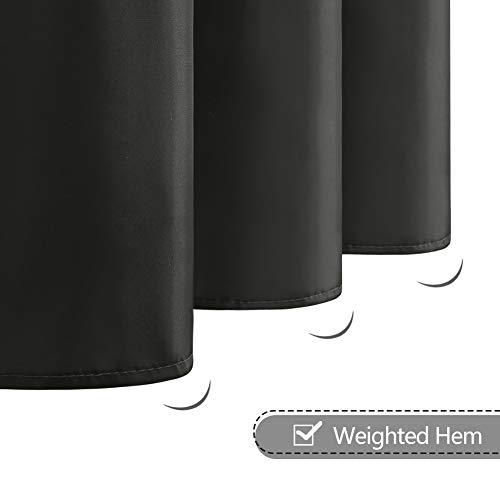 Furlinic Tenda Doccia Antimuffa Tessuto in Poliestere Tende Doccia Angolare Impermeabile Lavabile Grigio Scuro Tenda Vasca da Bagno Grommet Piccolo 90x180cm