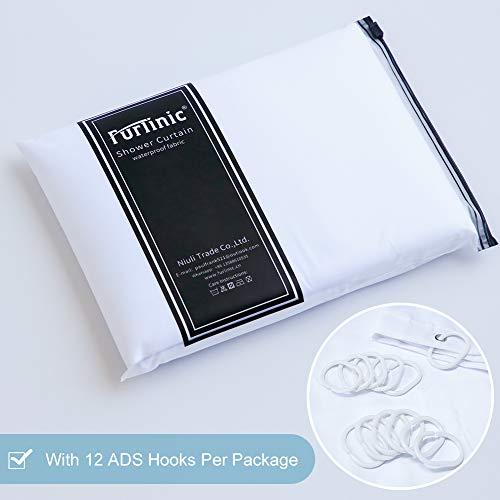 Furlinic Tende Doccia Tessuto AntiMuffa Impermeabile Ultra Grande Pulita del Fodera LavabileImposta con 12 Ganci di Plastica200 x 240cm
