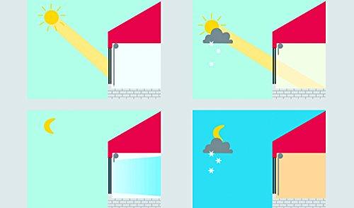 GARDINIA Tenda a rullo con rivestimento termico con morsetto o adesiva Elevato riflesso della luce Risparmio energetico Opaca Kit di montaggio incluso EASYFIX Tenda a rullo con rivestimento termico Ardesia 75 x 150 cm LxA