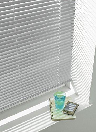 GARDINIA Veneziana in alluminio Visibilit Protezione dalla luce e ai raggi solari Fissaggio al muro e al plafone Kit di montaggio incluso Argento 70 x 175 cm LxA