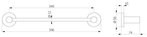 Gedy FE211335100 Portasalviette in Metallo Colore Cromato 35 cm L396H56P74cm