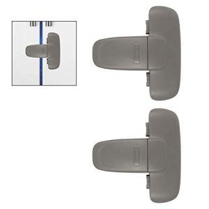 Girlslove talk  Serrature di sicurezza per bambini senza forature per armadi WC frigorifero porta finestra 2 pezzi grigio