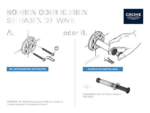 Grohe 40366001 Porta Salviette Grigio Cromo 600 mm
