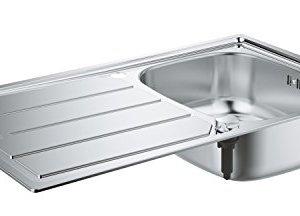 Grohe Lavello in Acciao Inox con Gocciolatoio K200 Incasso Standard