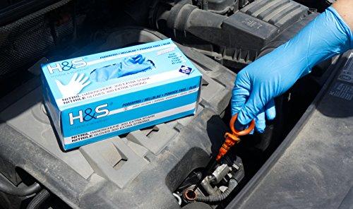 Guanti al Nitrile scatola da 100 guanti S Small M Medium L Large XL XLarge senza polvere senza lattice per uso alimentare ambidestro blu EXTRA XL