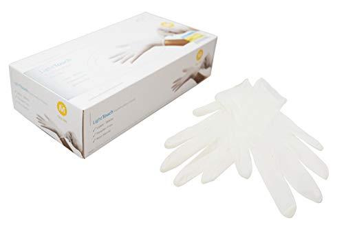 Guanti in latticeLight Touch non sterile senza polvere bianchi misura M  100 pezzi