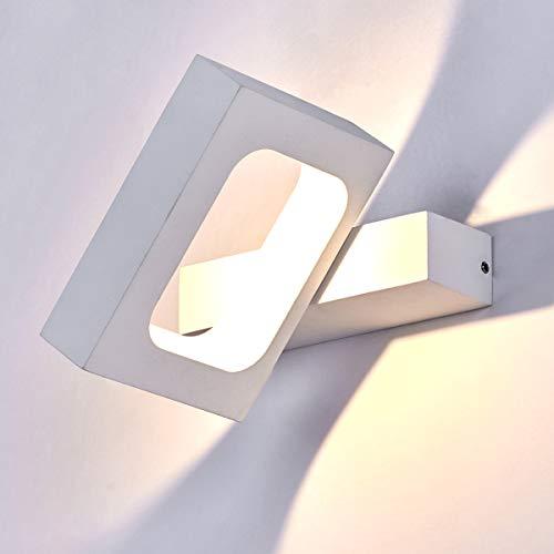 HAOFU 10W LED Lampada da PareteLED Applique da Parete Interni Decorazione per Sala Soggiorno Corridoio3000k Bianco Caldo145  130  30mm Bianco