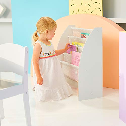 HelloHome Libreria a Fasce in Tessuto per BambiniContenitore di Libri da cameretta One Size