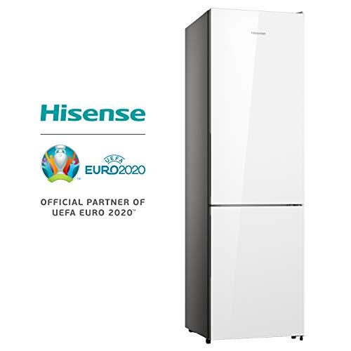 HISENSE RB438N4GX3 Frigorifero Combinato a libera installazione Total No Frost sistema di ventilazione Multi Air Flow Design in Vetro Bianco Altezza 2003 cm capacit netta 334 L