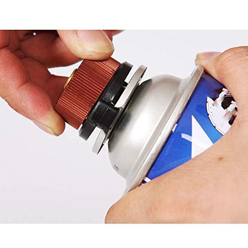 HPiano 3 Pezzi Adattatore per fornello da Campeggio Connettore della Stufa per Cartuccia di butano a Vite a Cartuccia di Gas Adattatore di conversione Adattatore Tipo di Bottiglia dellugello