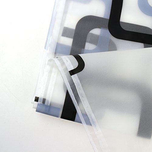 HuaForCity Tenda da Doccia 180x240Tenda da Bagno Impermeabile pevaTenda Camera da Letto Antimuffa Ultra LungoDoccia Vasca con 12 AnelliTende da Box Doccia 180x240cm Rectangle