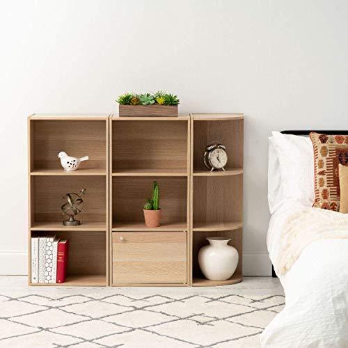 Iris Ohyama  Ripiani 3 nicchie  3 scaffali in legno  Basic Storage Shelf CX3  beige 415 x 29 x 88 cm