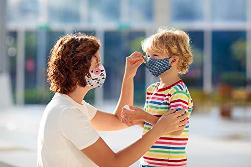 Kanguru Green Mask set 2 pezzi mascherina facciale 100 cotone lavabile riutilizzabile per bambina 25 anni