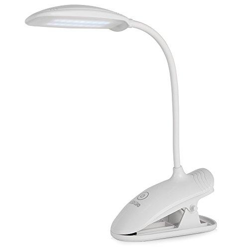 LEDGLE 8W Lampada LED con Pinza18LED Ricaricabile Touch 3 Livelli di Luminosit Cavo USB incluso Portatile Per scrivania Classe di efficienza energetica A