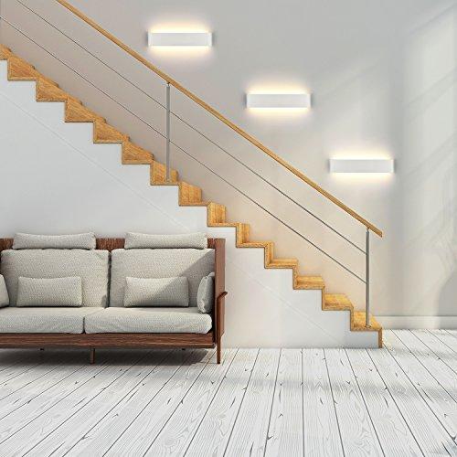 LED Lampada da Parete 16W Bianco Caldo Moderno Up Down Applique da Parete con 110V260V Interni Lampada a Muro per Bagno Lampada Soggiorno Camera da Letto Scale Corridoio Luce Notturna