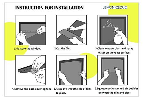 LEMON CLOUD Finestra modalit 3D Film di bamb per Ufficio Decorazioni e Privacy 90cmx200cm bamb