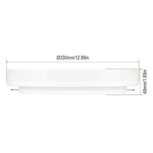 LE Plafoniera LED 24W 2400lm 33cm Lampada da Soffitto per Bagno Impermeabile IP54 Luce Lampada da Soffitto Bianco Diurno 5000K Risparmio Energetico per Soggiorno Corridoio Cucina Balcone