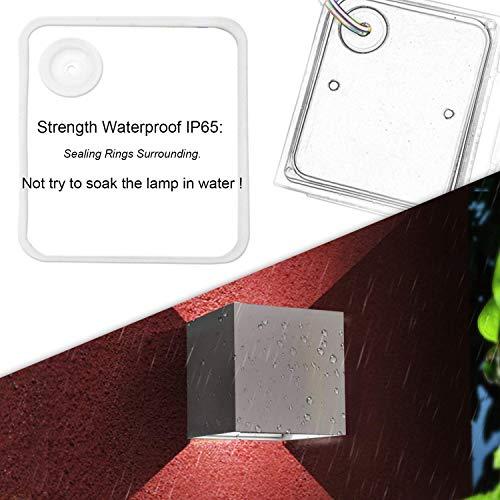 Lightess 2 Pezzi 12W Applique da Parete LED Lampada da Parete Esterna IP65 Impermeabile Lampada a Muro Moderno Alluminio per Esterno ed Interno Portico Bagno Corridoio Balcone