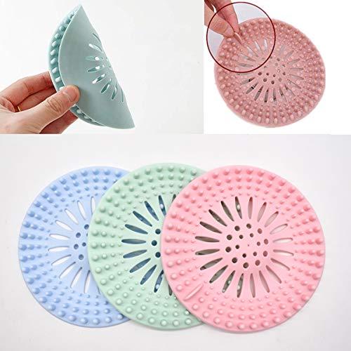 Gel di silice. 13.5*13.5 cm forte adsorbimento per doccia Tappo per capelli in silicone filtro in silicone per il tappo dei capelli filtro di scarico per il bagno per vasca da bagno bianco